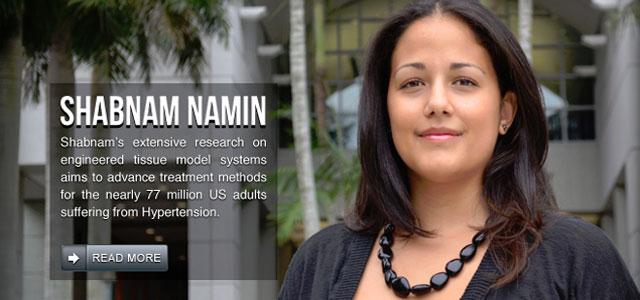Congratulations to Shabnam Namin.