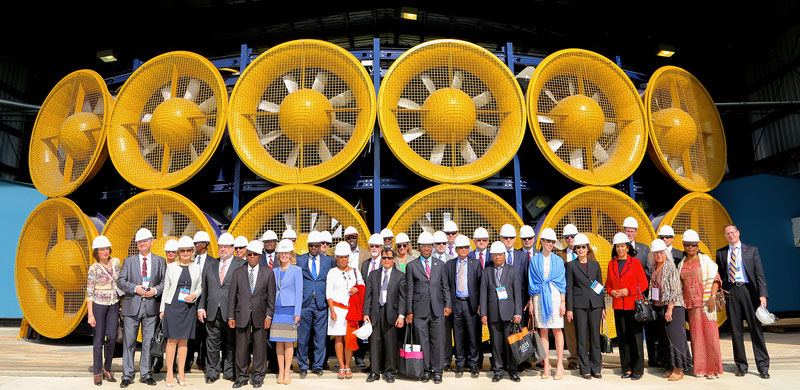 Ambassadors from around the world experience the impact of FIU's Wall of Wind