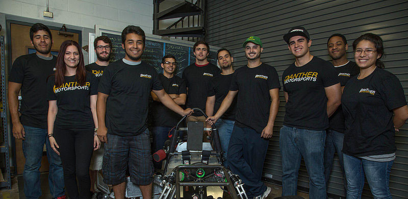 Engineering students build a racecar from scratch for international competition