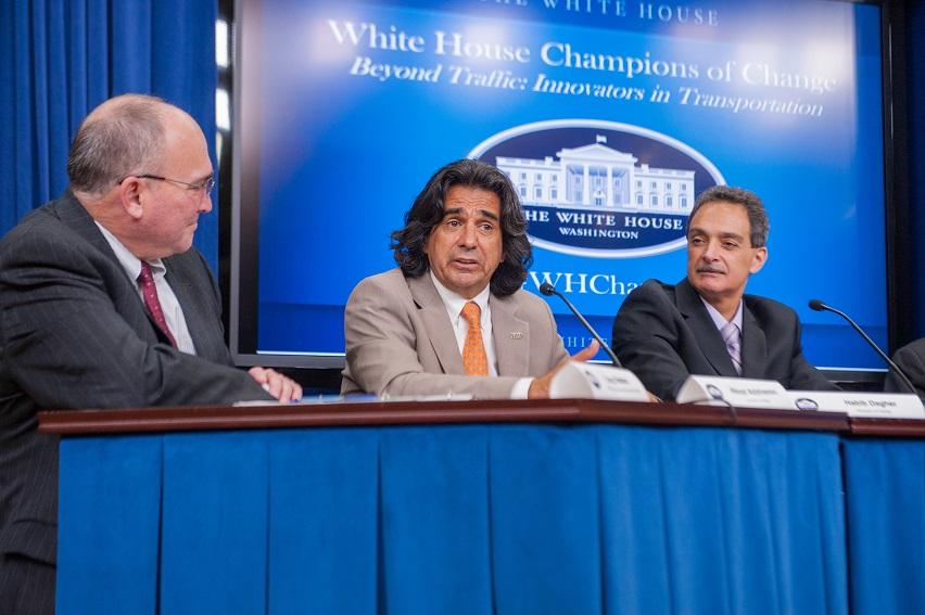 FIU Bridge Expert speaking at the White House