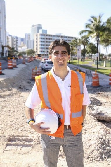 Carlos Tamayo turned a successful internship with the City of Miami Beach into a fulltime position as a civil engineer with the city.