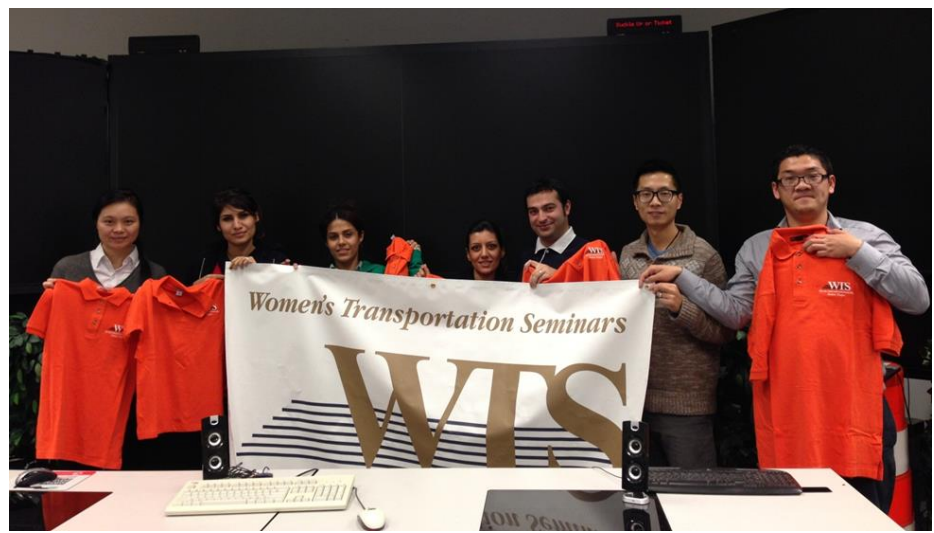 First E-board member of WTS student chapter From left to right: Dr. Yan Xiao (Advisor of WTS student chapter), Samaneh, Somaye Fakharian Qom, Homa, Mohammad, Xuanwu, Fengjiang
