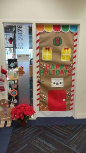 ... Had A Holiday Decoration Competition In Which Our Employees Decorated  Their Office Desks And Doors. We Then Asked Everyone To Vote And Pick The  Winner.