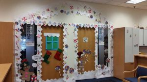 Charming ... Had A Holiday Decoration Competition In Which Our Employees Decorated  Their Office Desks And Doors. We Then Asked Everyone To Vote And Pick The  Winner.