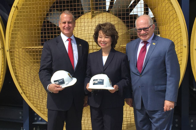 Transportation Secretary Chao and Congressman Diaz-Balart visit FIU