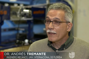 FIU's Dr. Andres Tremante talks to Univision about SPACEX's launch of the most powerful rocket in the world with a Tesla on-board.