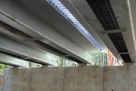 Underside of Coastal Infrastructure Bridge