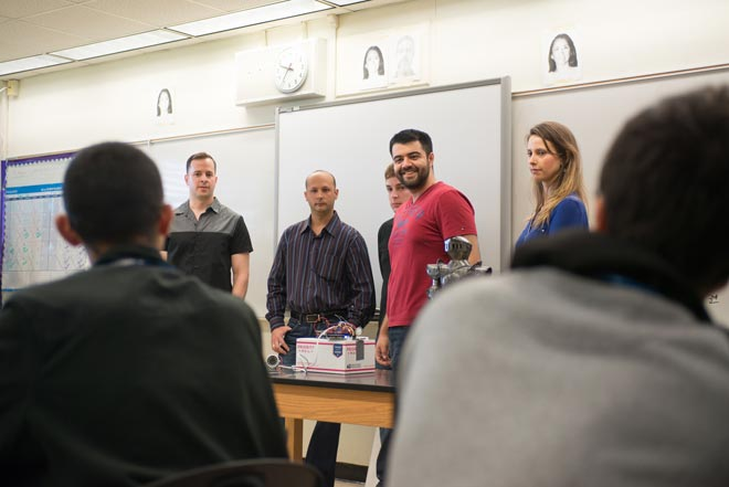 Engineering Students Inspire High Schoolers