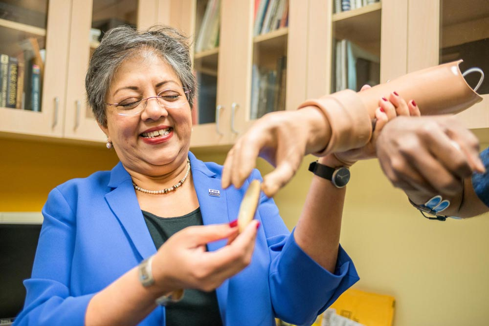 Neural-enabled Prosthetic Hand System Created by FIU's Dr. Ranu Jung