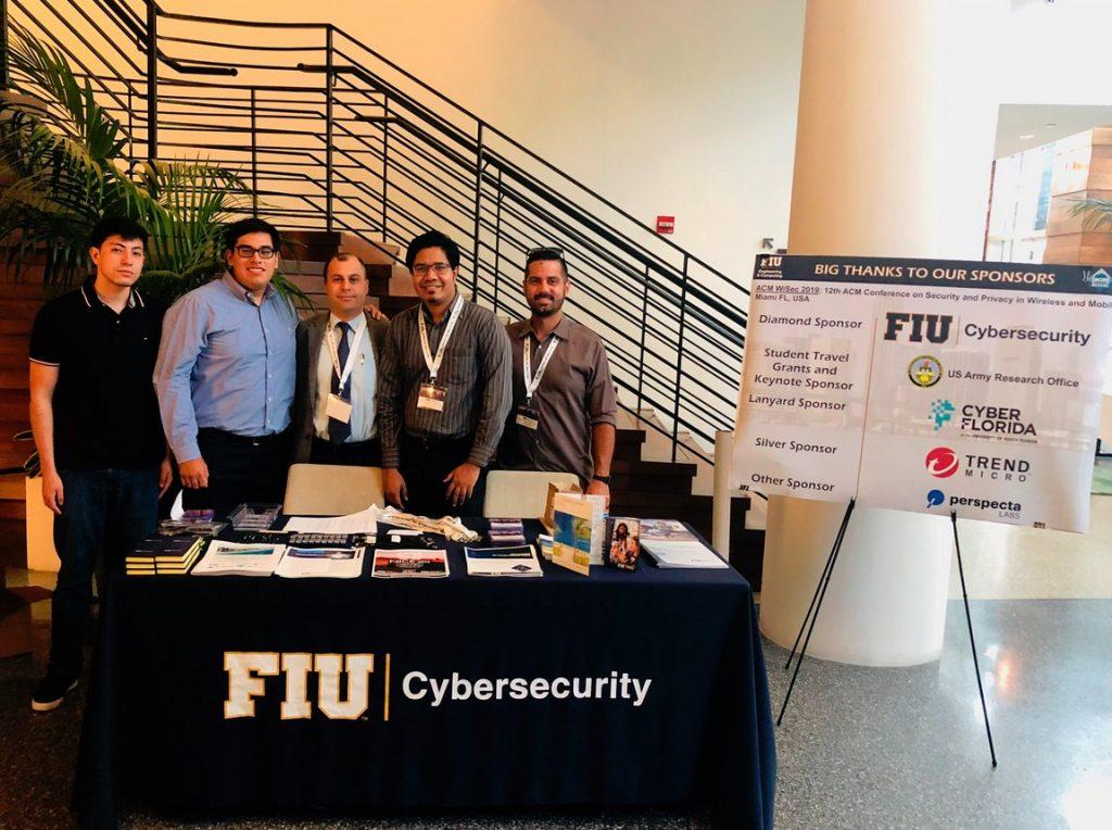 From left to right: David Gil, William Baldarrago, Jr., Selcuk Uluagac, Amit Sikder, Leonardo Babun