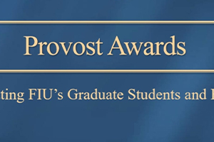 Grad students honored for their research with Provost Awards
