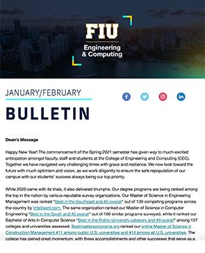 Screenshot of Jan/Feb 2021 Bulletin