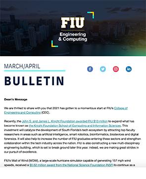 Screenshot of March/April 2021 Bulletin