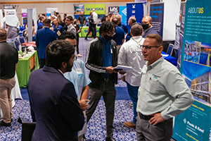 Moss Department of Construction Management welcomed more than 40 companies, nearly 200 students at its Fall 2021 Career Expo