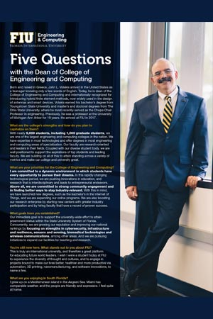 Dean John Volakis and CEC by the Numbers Brochure