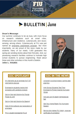 fiu-college-engineering-computing-bulletin-june-2018